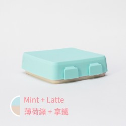 【台灣製】2angels 矽膠拼圖餐盤 (薄荷綠)