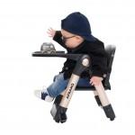英國 Apramo Flippa 便攜餐椅(黑金別注版)