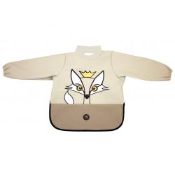 挪威 BabyLivia 防水樽領長袖飯衣(米色狐狸)
