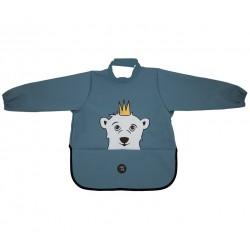 挪威 BabyLivia 防水樽領長袖飯衣(藍色北極熊)