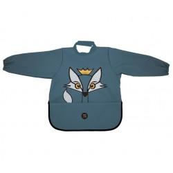挪威 BabyLivia 防水樽領長袖飯衣(藍色狐狸)