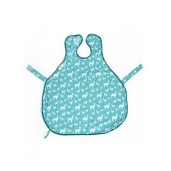 澳洲 Calmbee 神奇防漏飯衣-背心款 (水藍羊駝)
