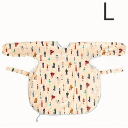 澳洲 Calmbee 神奇防漏飯衣-長袖款L碼 (人物公仔)