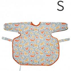 澳洲 Calmbee 神奇防漏飯衣-長袖款S碼 (森林動物)