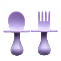 美國 Grabease 雲朵學習餐具(淺紫色)