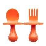 美國 Grabease 雲朵學習餐具(橙色)