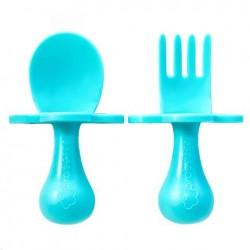 美國 Grabease 雲朵學習餐具(藍色)