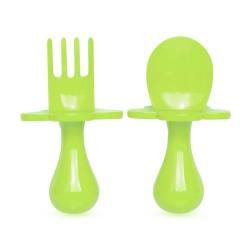 美國 Grabease 雲朵學習餐具(綠色)