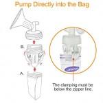 【台灣製】 Maymom Breastmilk Storage Bag Adapters 直入儲奶袋夾(闊口)