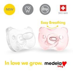 美國 Medela Soft Silicone™ 安撫奶嘴 0-6 month (2個裝連消毒收納盒)