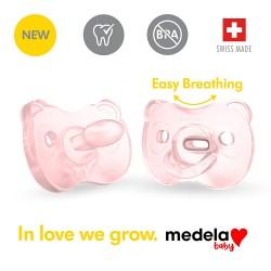 美國 Medela Soft Silicone™ 安撫奶嘴 6-18 months (2個裝連消毒收納盒)