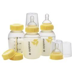 美國 Medela 5oz 奶樽連奶嘴及儲奶蓋 (附送微波爐消毒袋1個)