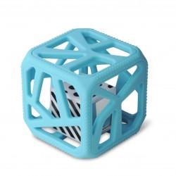 Malarkey Kids Chew Cube 咬咬魔方(藍色)| 牙膠搖鈴玩具