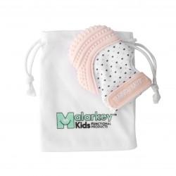 Malarkey Kids Munch Mitt咬咬手套(淺粉紅)| 牙膠結合手套,唔再怕BB食手指啦