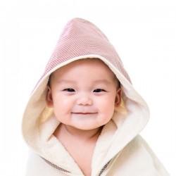 【台灣製】Nizio小蘑菇天然棉紗浴巾(紅色)