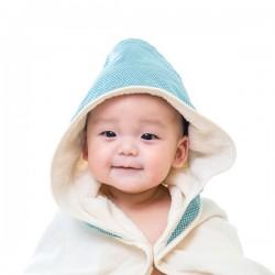 【台灣製】Nizio 小蘑菇天然棉紗浴巾(綠色)