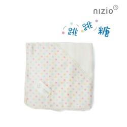 【台灣製】Nizio 跳跳糖四層紗浴包巾(白色)