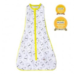 【土耳其製】Owli 四合一包被睡袋 (黃MilkMilk) | 一件可從初生著到3歲