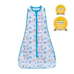 【土耳其製】Owli 四合一包被睡袋 (藍色動物園) | 一件可從初生著到3歲