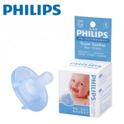 【美國製】Philips Super Soothie Natural 飛利浦安撫奶嘴 3m+(藍色)