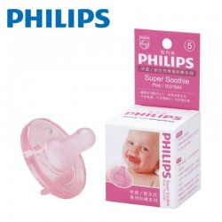 【美國製】Philips Super Soothie Natural 飛利浦安撫奶嘴 3m+(粉紅色)