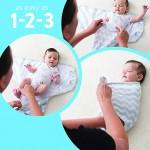 美國 SwaddleMe 初生嬰兒包被三件裝 (心心大象)